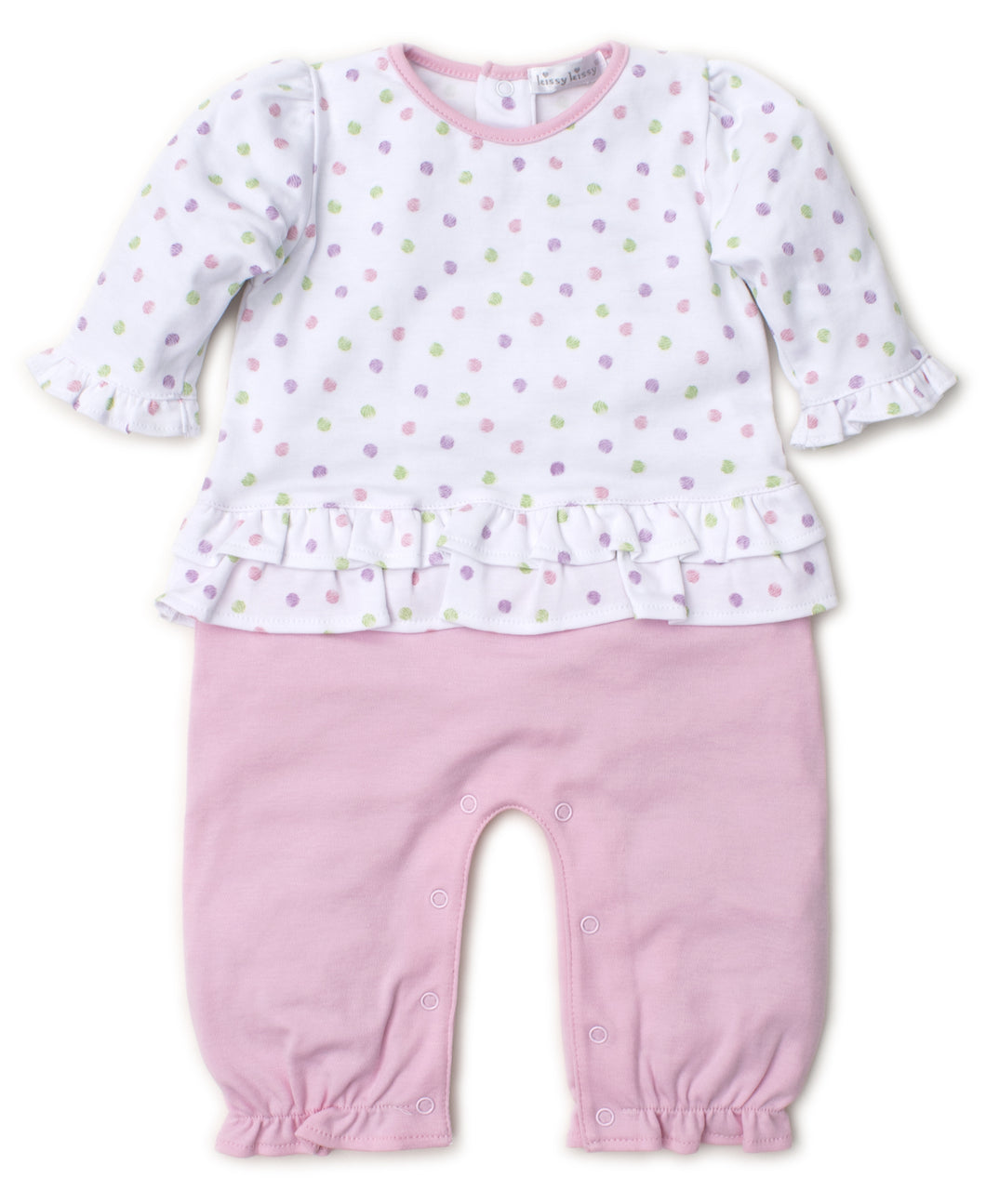 Dapple Dots Playsuit Mix - Pink