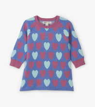 Load image into Gallery viewer, Pretty Hearts Baby Sweater Dress
