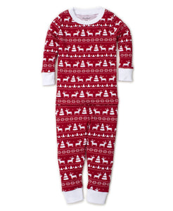 Pjs Christmas Deer Pajama Set Snug PRT - Red