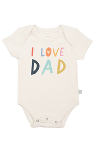 Love Dad Graphic Body Suit