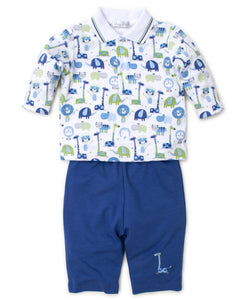 Jazzy Jungle Pant Set Mix - Blue