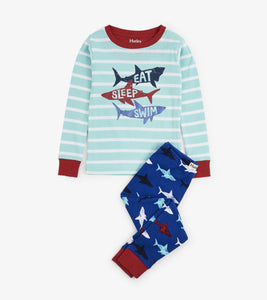 Shark Frenzy Organic Cotton Pajama Set