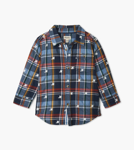Dragons Button Down Shirt - Blue Horizon