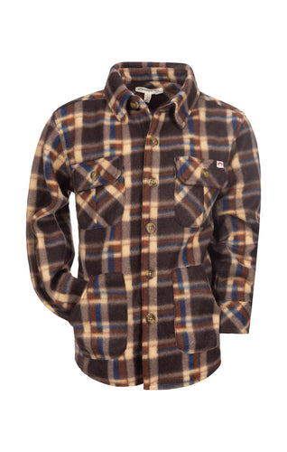 Snow Fleece Shirt - Ginger Check