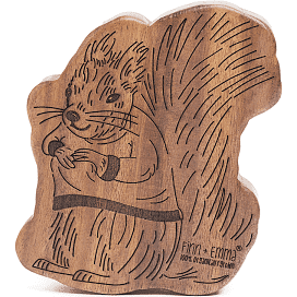 Squirrel Wooden Rattle Teether