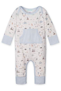Kangaroo Romper - Dinosaurs on White