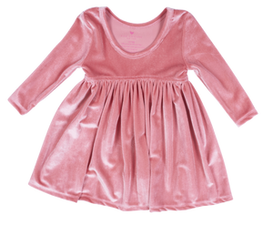 Baby Steph Dress - Rapture Rose Velour