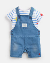 Load image into Gallery viewer, Duncan Denim T-Shirt And Dungarees Set
