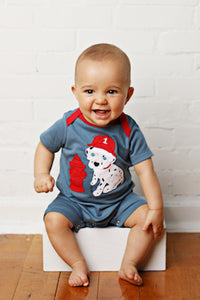 Dalmation Fire Fighter Romper
