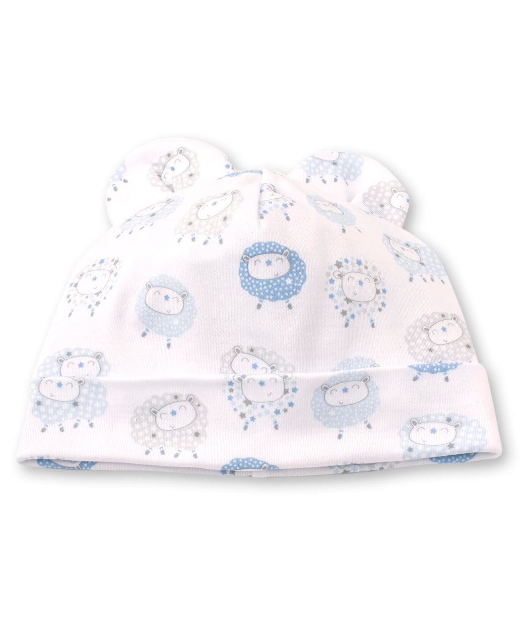Shabby Sheep Hat - Light Blue Print