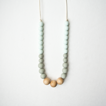 Load image into Gallery viewer, Naturalist Wood + Silicone Necklace - Mint Sage