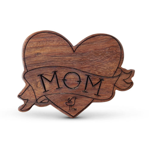Mom Wooden Rattle Teether