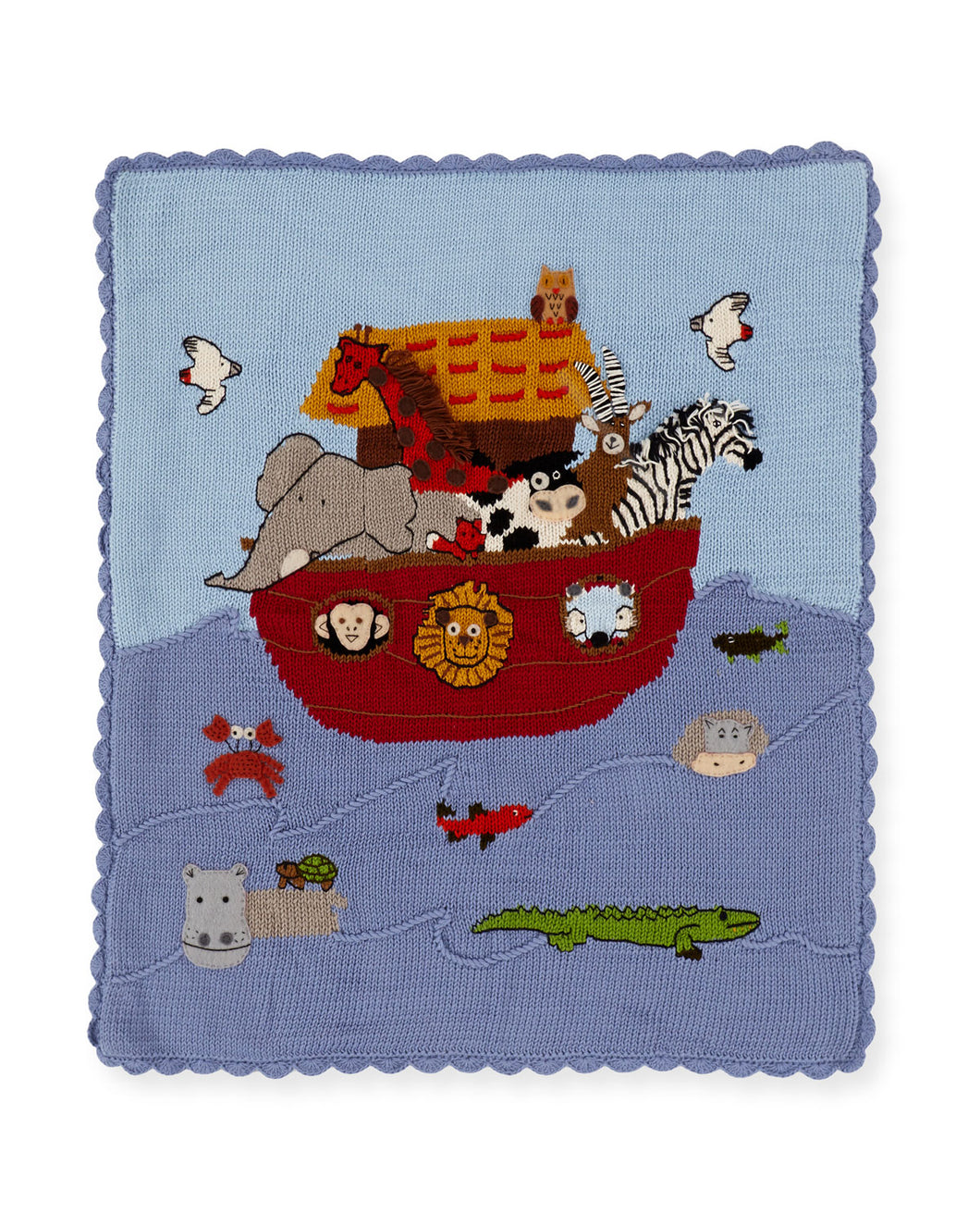 Noah's Ark Blanket in Blue