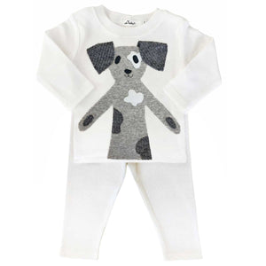 oh baby! Two Piece Set - Spot Dog - Cream