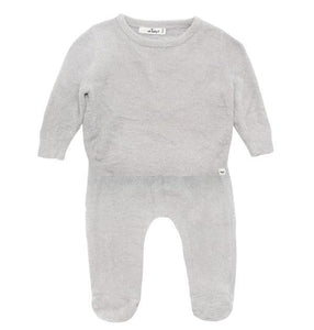 oh baby! Two Piece Fuzzy Knit Set - Cloudy