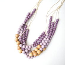 Load image into Gallery viewer, Naturalist Wood + Silicone Teething Necklace - Plum Mauve