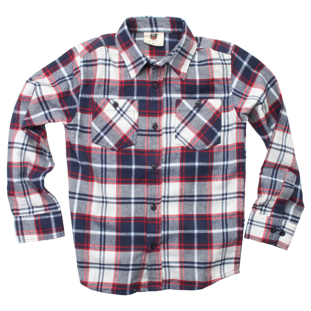 Plaid LS Shirt F19 Midnight