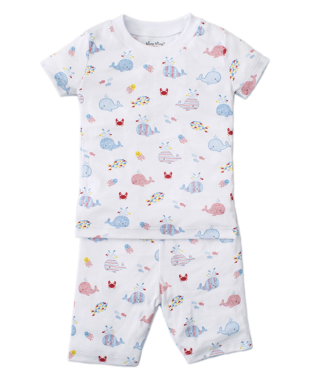 Whale Of A Time Short PJ Set Snug - Blue Print
