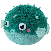 "Load image into Gallery viewer, Squishable Teal Pufferfish (15"")"