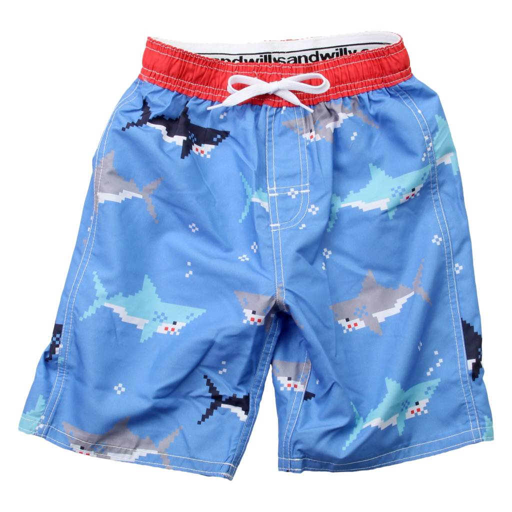 Bitmap Sharks Trunk UC Blue