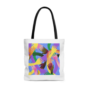 GMA HANDS BLUE Tote Bag