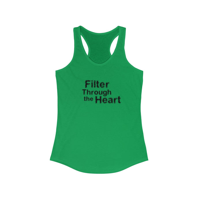 Filter Through the Heart, Blurred: Women's Racerback Tank
