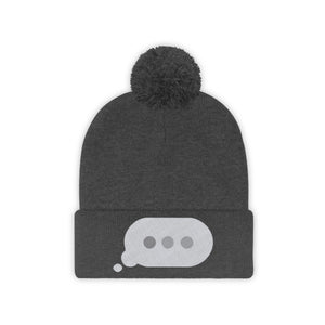 Text Bubble: Pom Pom Beanie
