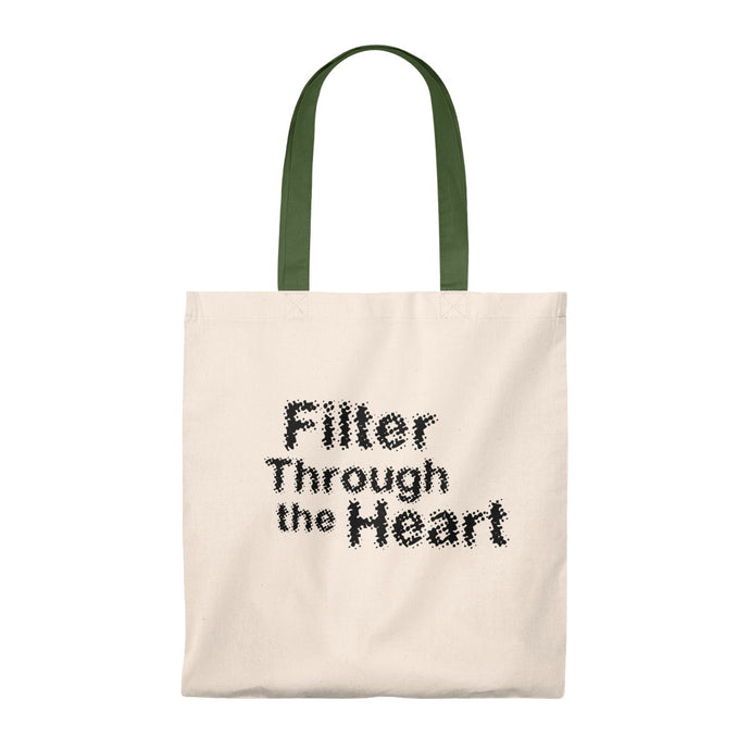 Filter Through the Heart, Blurred: Tote Bag