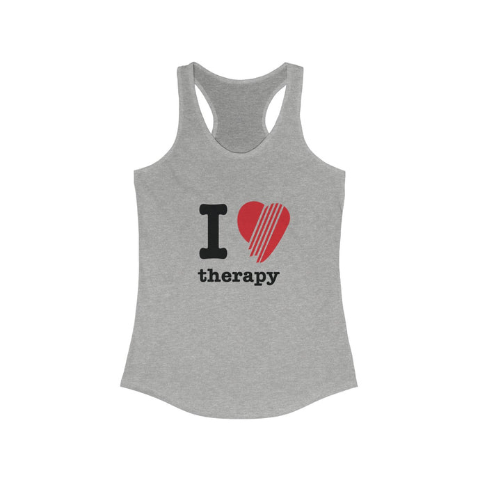 I Love Therapy: Women's Racerback Tank