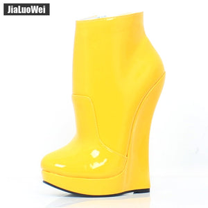 9a873f7e11d5 jialuowei Fetish Stallion Horse Hoof Sole Ankle Boots With Zip BDSM Platform  Runway Rock Star Night Club Goth Punk Hi Heel Boot