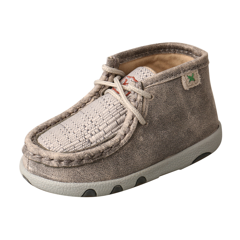 Angled picture of the outter side of the Infant's Twisted X Chukka Driving Moc ICA0012