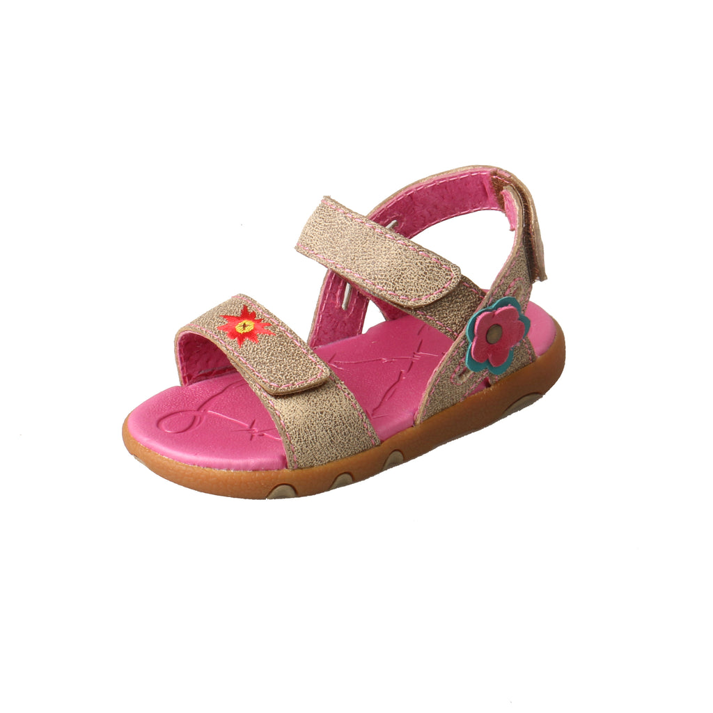 Angled picture of the outter side of the Infant's Twisted X Sandal ICAS002
