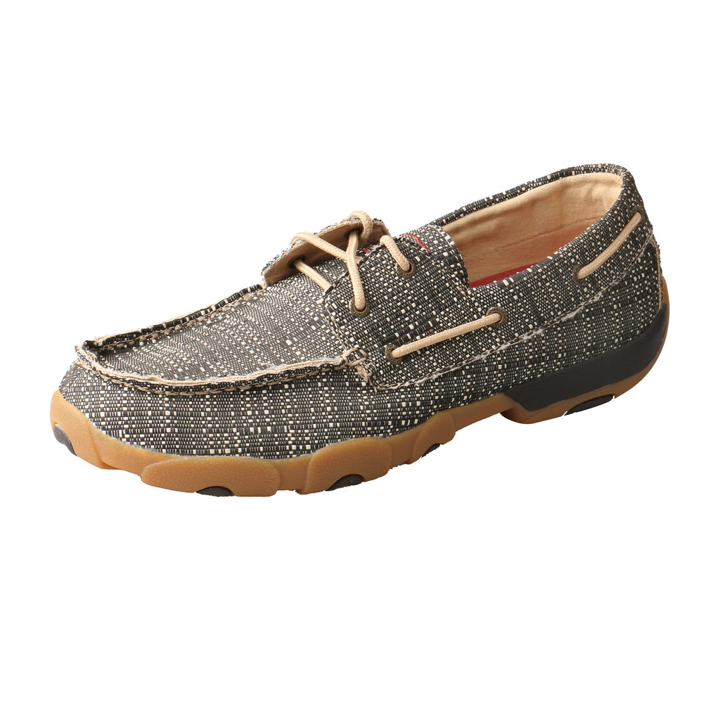 Angled picture of the outter side of the Men's Twisted X ECO Boat Shoe Driving Moc MDM0074