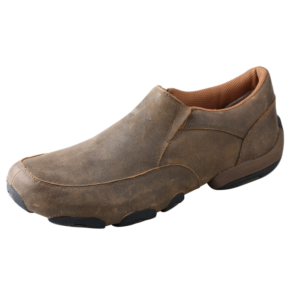 Angled picture of the outter side of the Men's Twisted X Original Slip-On Driving Moc MDMS001