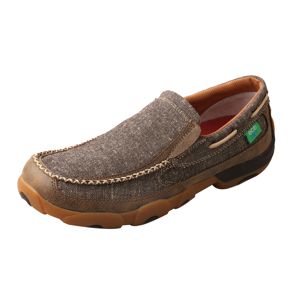 Angled picture of the outter side of the Men's Twisted X ECO Slip-On Driving Moc MDMS012