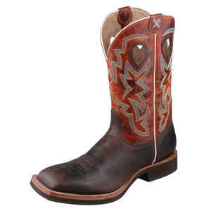 Angled picture of the outter side of the Men's Twisted X Horseman Boot MHM0014