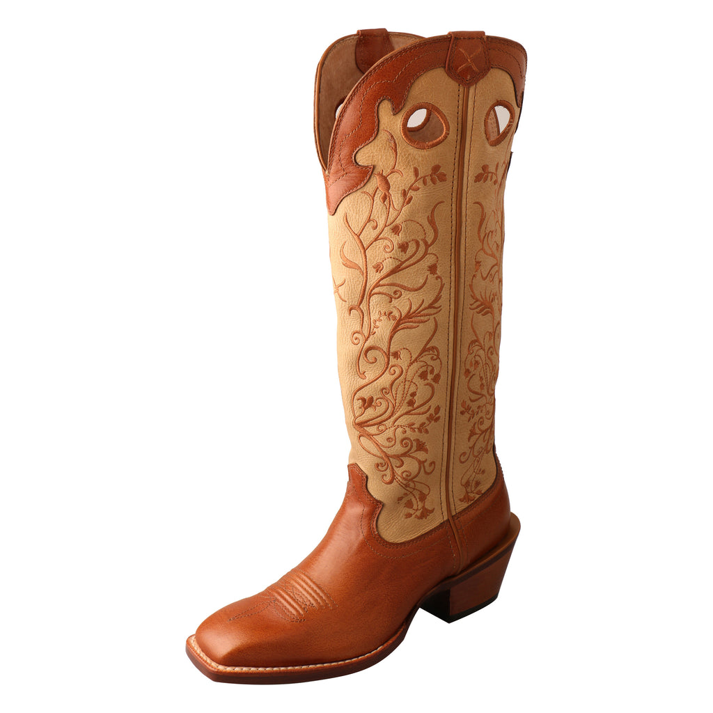 Angled picture of the outter side of the Women's Twisted X Buckaroo Boot WBKL008