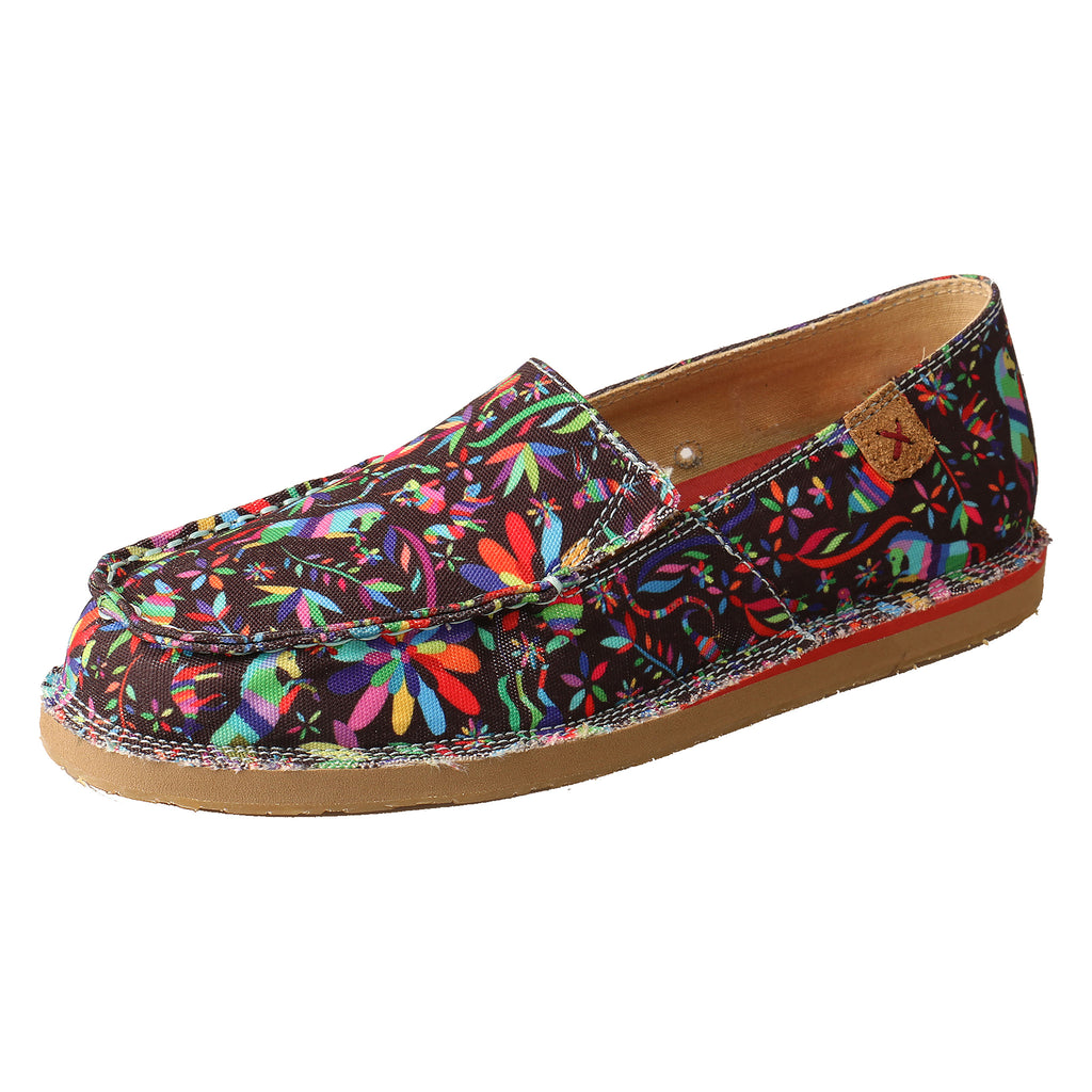 Angled picture of the outter side of the Women's Twisted X Casual Loafer WCL0013