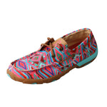 Angled picture of the outter side of the Women's Twisted X TETWP Boat Shoe Driving Moc WDM0123