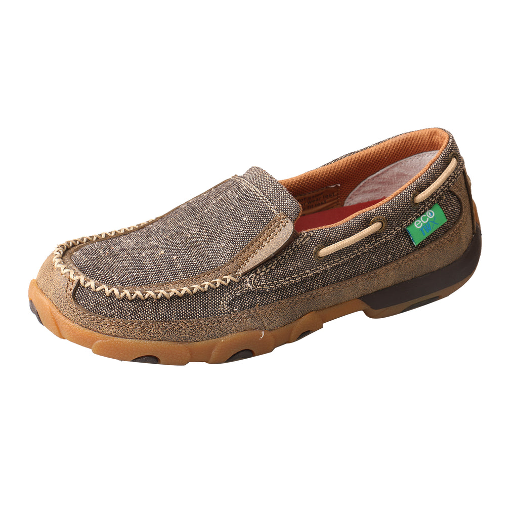 Angled picture of the outter side of the Women's Twisted X ECO Slip-On Driving Moc WDMS009