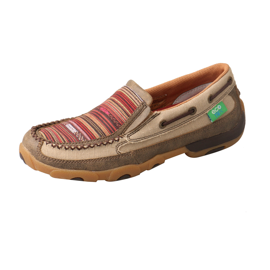 Angled picture of the outter side of the Women's Twisted X ECO Slip-On Driving Moc WDMS013