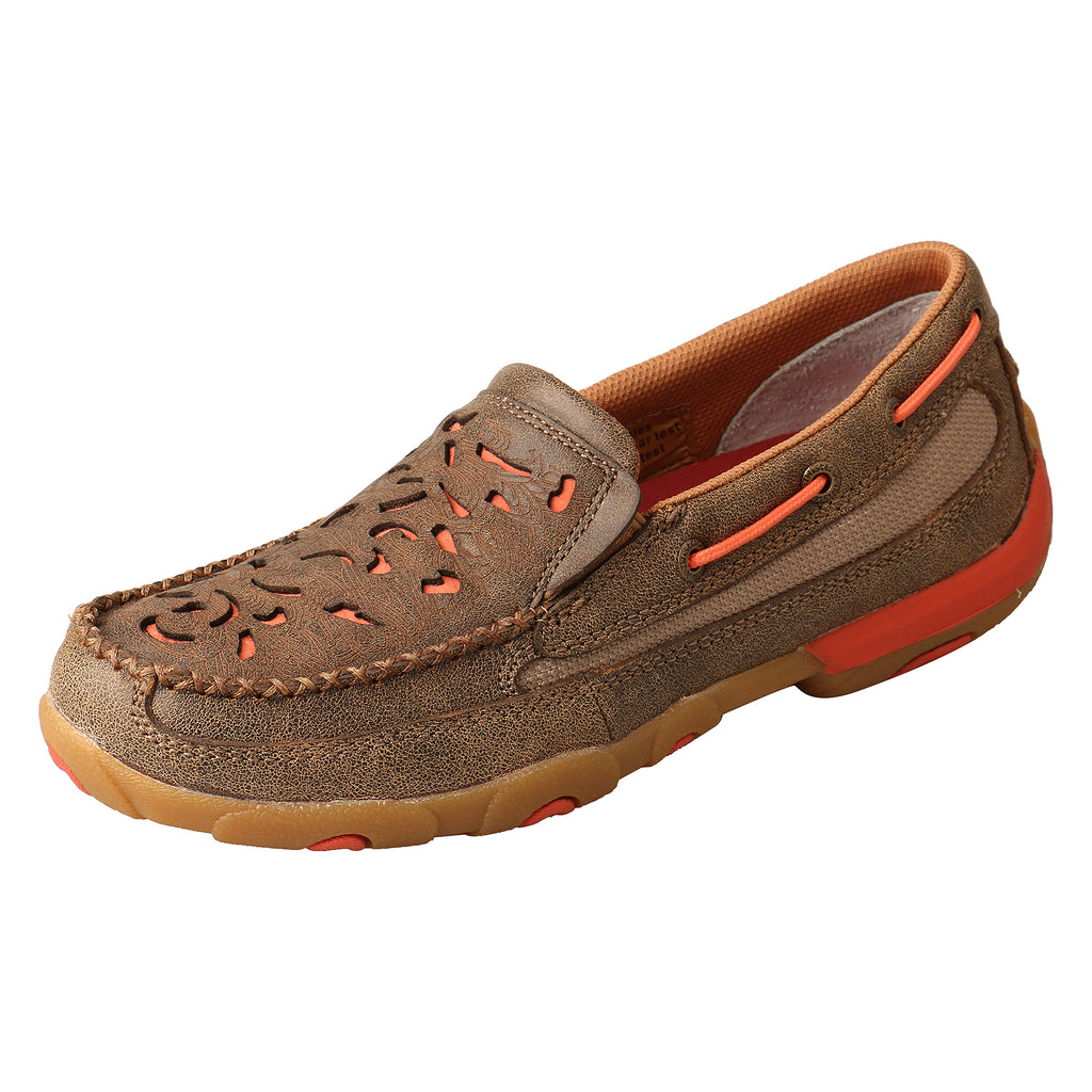 Angled picture of the outter side of the Women's Twisted X Slip On Driving Moc WDMS019