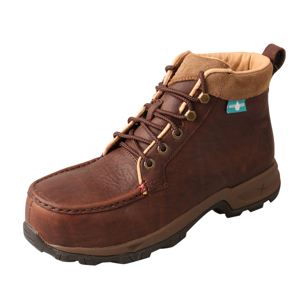 Angled picture of the outter side of the Women's Twisted X Work 6� Comp Toe Hiker Boot - WP WHKWC01