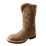 Angled picture of the outter side of the Women's Twisted X Alloy Toe Lite Western Work Boot WLCA002