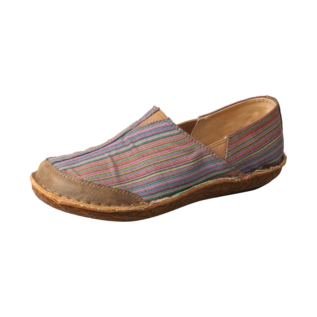 Angled picture of the outter side of the Women's Twisted X ECO Leather Wrap Slip-On WLW0002