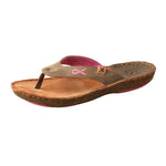 Angled picture of the outter side of the Women's Twisted X TETWP Leather Wrap Sandal WLW0003