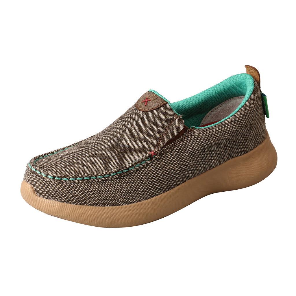 Angled picture of the outter side of the Women's Twisted X ECO Slip-On EVA12R WRV0001