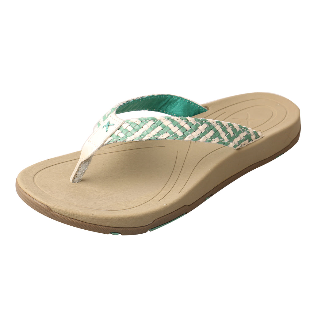 Angled picture of the outter side of the Women's Twisted X Sandal WSD0029