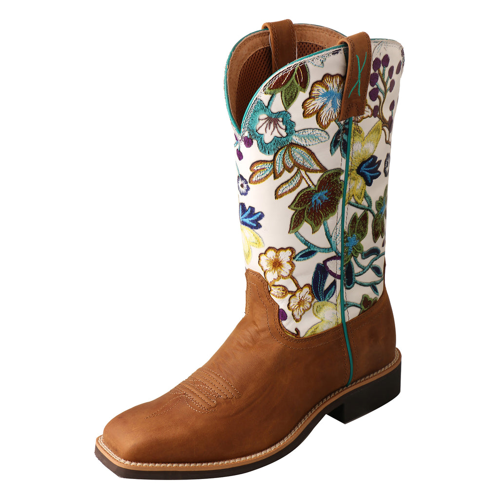 Angled picture of the outter side of the Women's Twisted X Top Hand Boot WTH0017