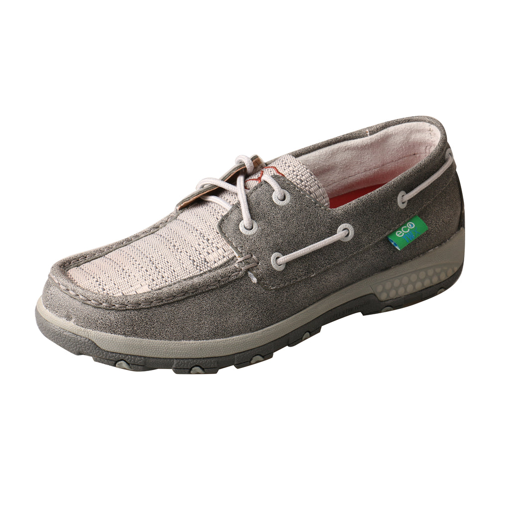 Angled picture of the outter side of the Women's Twisted X Boat Shoe Driving  Moc with CellStretch WXC0007